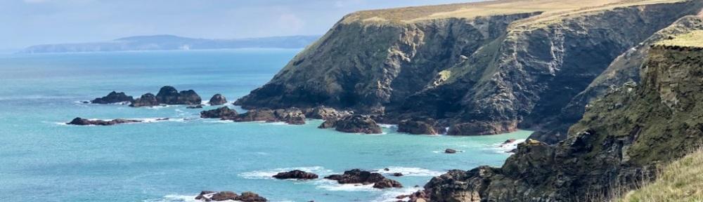 Headland and ocean.